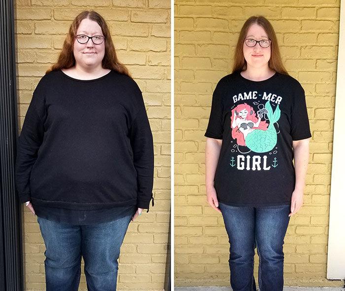 42 exemplos inspiradores de perda de peso que mostram o que a força de vontade e o trabalho árduo podem fazer 39