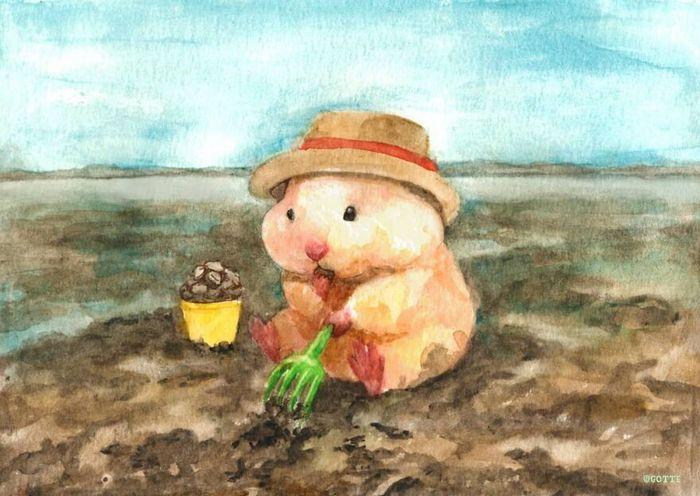 34 Ilustrações saudáveis de um Hamster Chamado Sukeroku 3