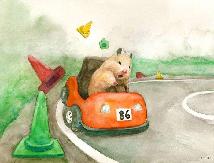 34 Ilustrações saudáveis de um Hamster Chamado Sukeroku 4