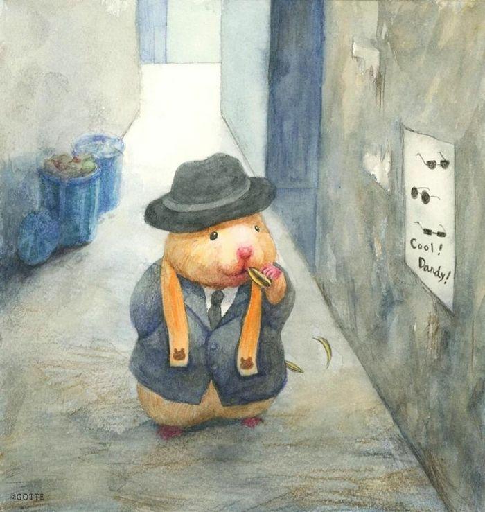 34 Ilustrações saudáveis de um Hamster Chamado Sukeroku 5