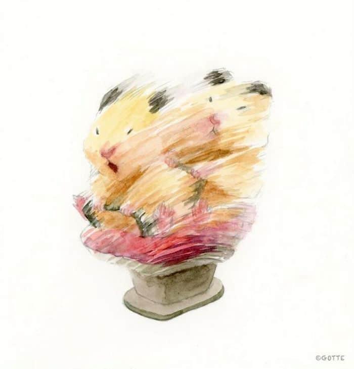 34 Ilustrações saudáveis de um Hamster Chamado Sukeroku 6