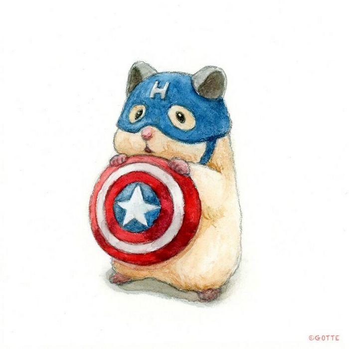 34 Ilustrações saudáveis de um Hamster Chamado Sukeroku 11