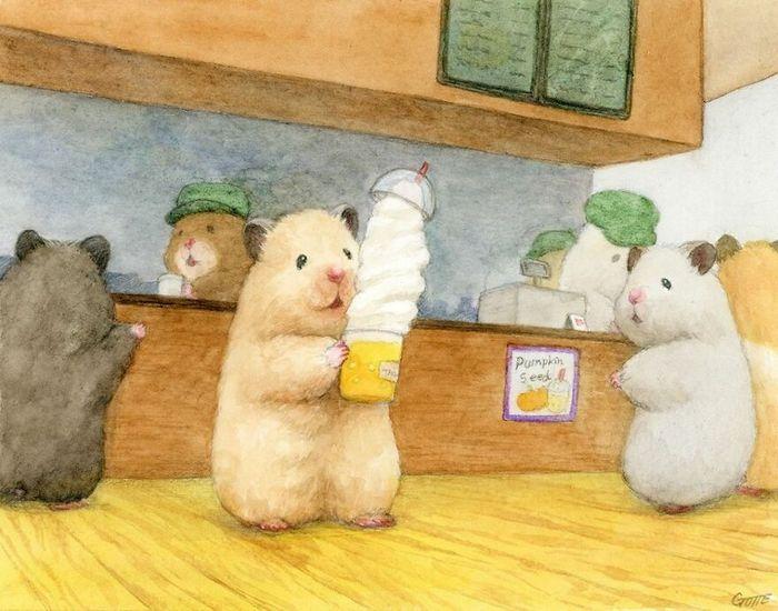 34 Ilustrações saudáveis de um Hamster Chamado Sukeroku 17