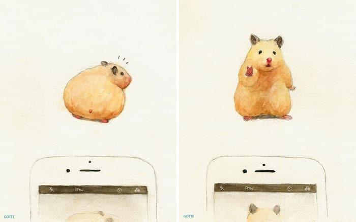 34 Ilustrações saudáveis de um Hamster Chamado Sukeroku 18