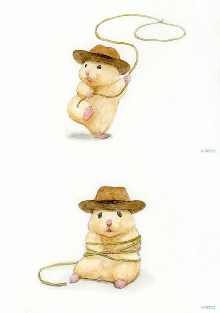 34 Ilustrações saudáveis de um Hamster Chamado Sukeroku 19