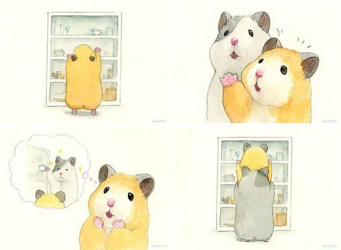 34 Ilustrações saudáveis de um Hamster Chamado Sukeroku 20