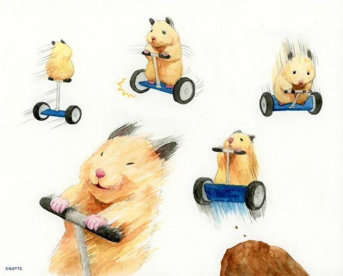 34 Ilustrações saudáveis de um Hamster Chamado Sukeroku 22