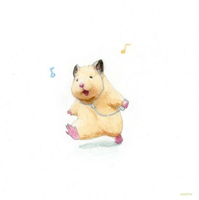 34 Ilustrações saudáveis de um Hamster Chamado Sukeroku 26