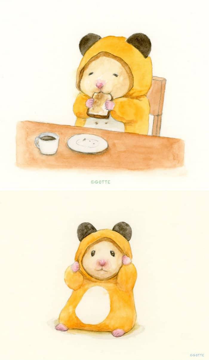 34 Ilustrações saudáveis de um Hamster Chamado Sukeroku 30