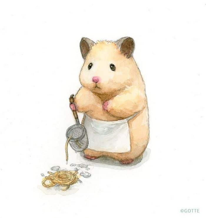 34 Ilustrações saudáveis de um Hamster Chamado Sukeroku 34