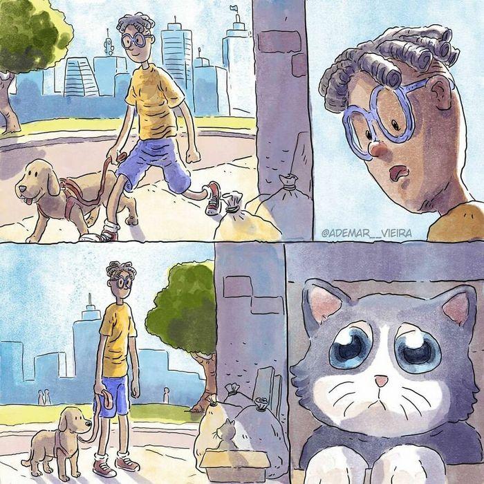 Artista compartilha sua história de adoção de um gatinho sem usar uma única palavra 4