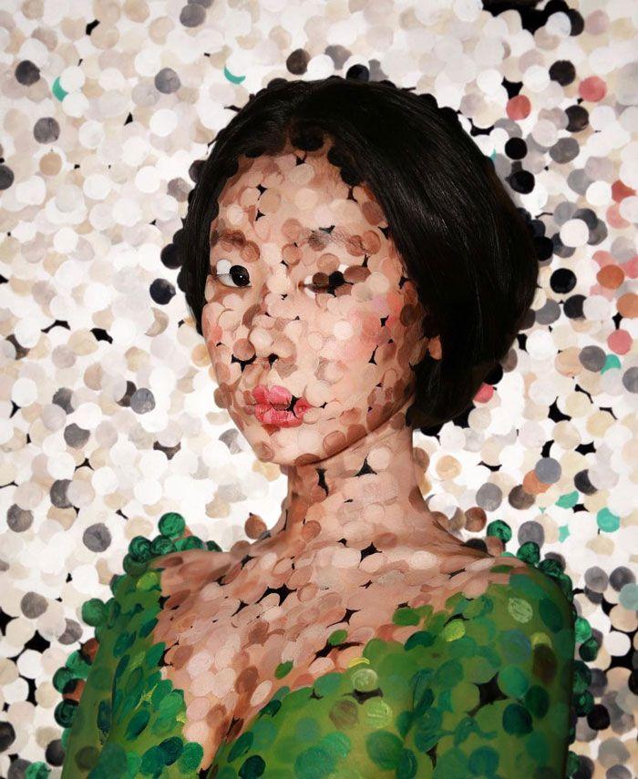 Artista cria ilusões óticas complexas em seu corpo e está bagunçando a mente das pessoas (31 fotos) 4