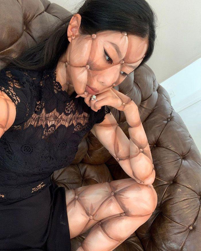 Artista cria ilusões óticas complexas em seu corpo e está bagunçando a mente das pessoas (31 fotos) 5
