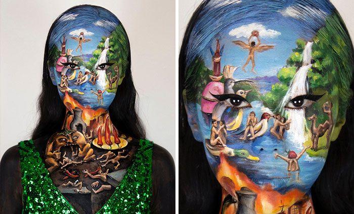 Artista cria ilusões óticas complexas em seu corpo e está bagunçando a mente das pessoas (31 fotos) 11