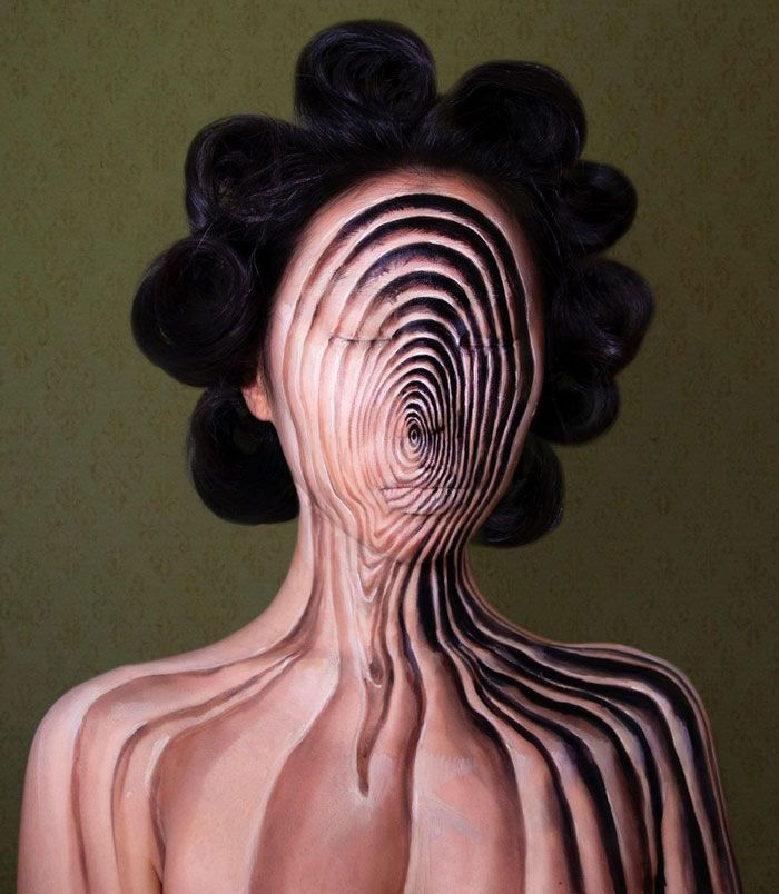 Artista cria ilusões óticas complexas em seu corpo e está bagunçando a mente das pessoas (31 fotos) 15