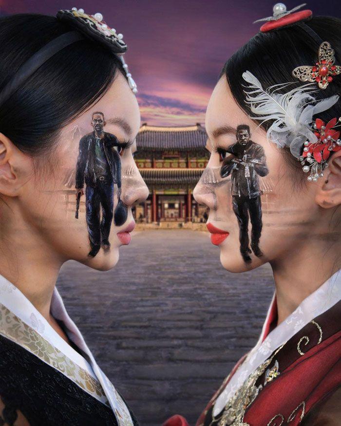 Artista cria ilusões óticas complexas em seu corpo e está bagunçando a mente das pessoas (31 fotos) 18