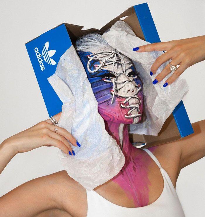 Artista cria ilusões óticas complexas em seu corpo e está bagunçando a mente das pessoas (31 fotos) 24