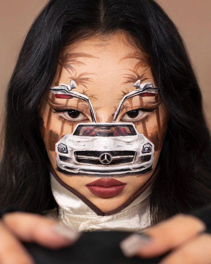 Artista cria ilusões óticas complexas em seu corpo e está bagunçando a mente das pessoas (31 fotos) 26