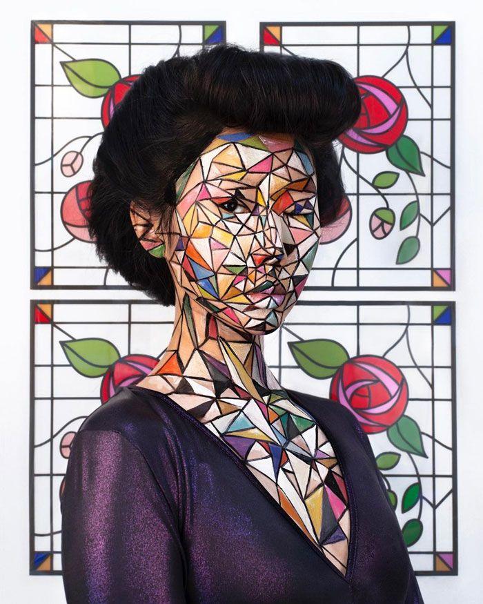 Artista cria ilusões óticas complexas em seu corpo e está bagunçando a mente das pessoas (31 fotos) 30