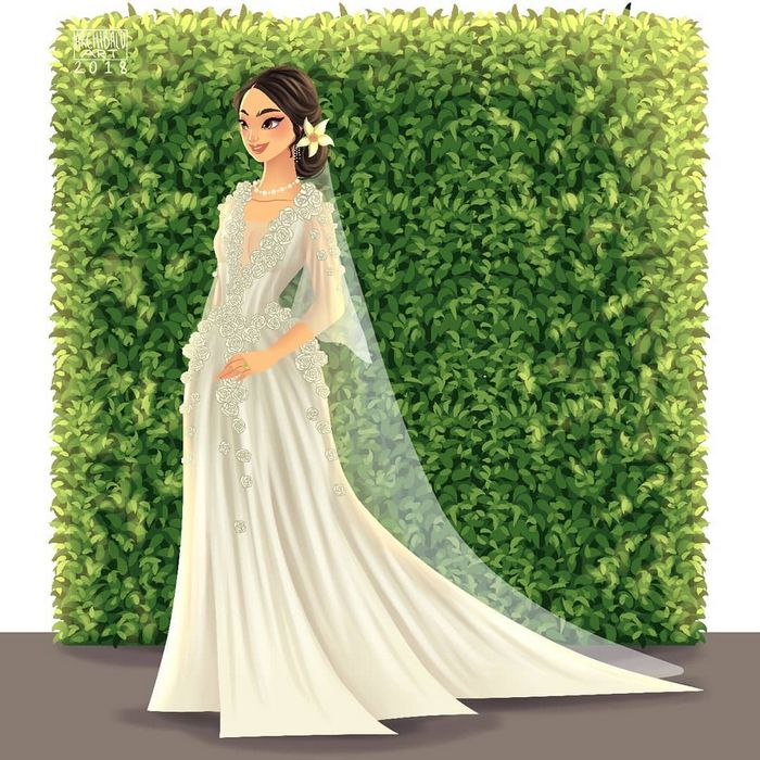 Artista cria vestidos de noiva modernos para princesas da Disney 10