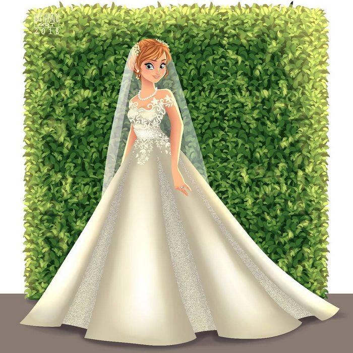 Artista cria vestidos de noiva modernos para princesas da Disney 13