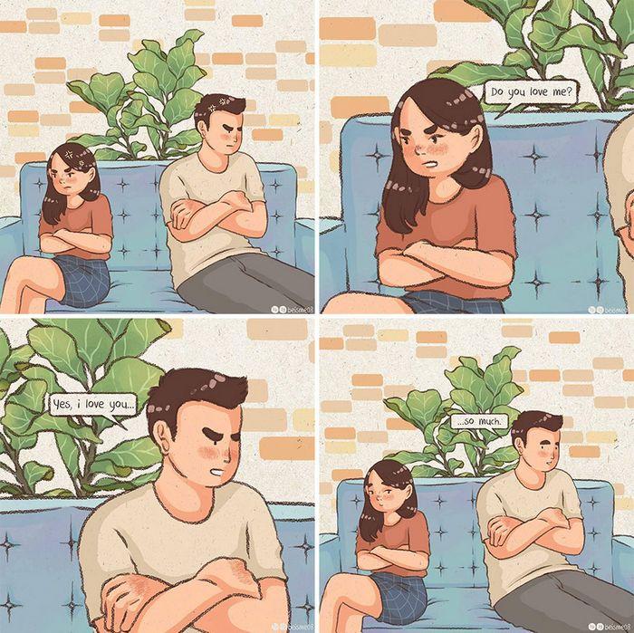 Artista desenha quadrinhos legais sobre estar em um relacionamento (39 fotos) 9