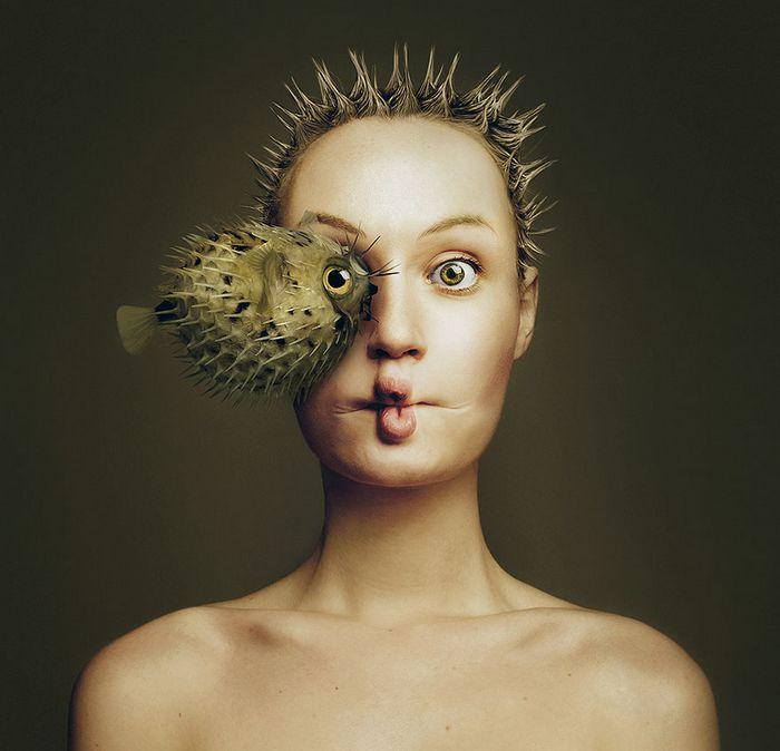 Artista húngara compartilha os olhos dos animais em sua série de auto-retratos (19 fotos) 3