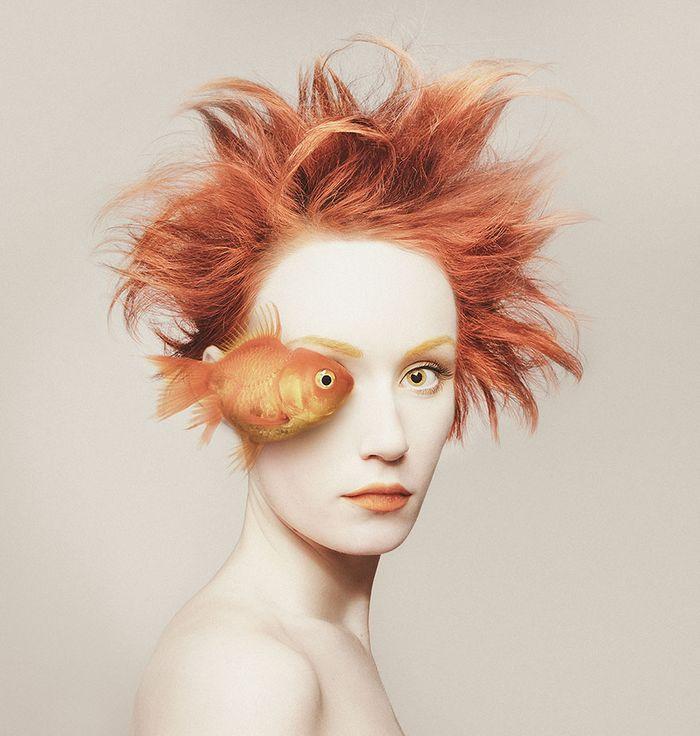 Artista húngara compartilha os olhos dos animais em sua série de auto-retratos (19 fotos) 4