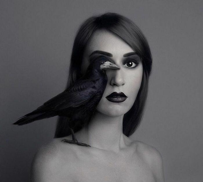Artista húngara compartilha os olhos dos animais em sua série de auto-retratos (19 fotos) 9