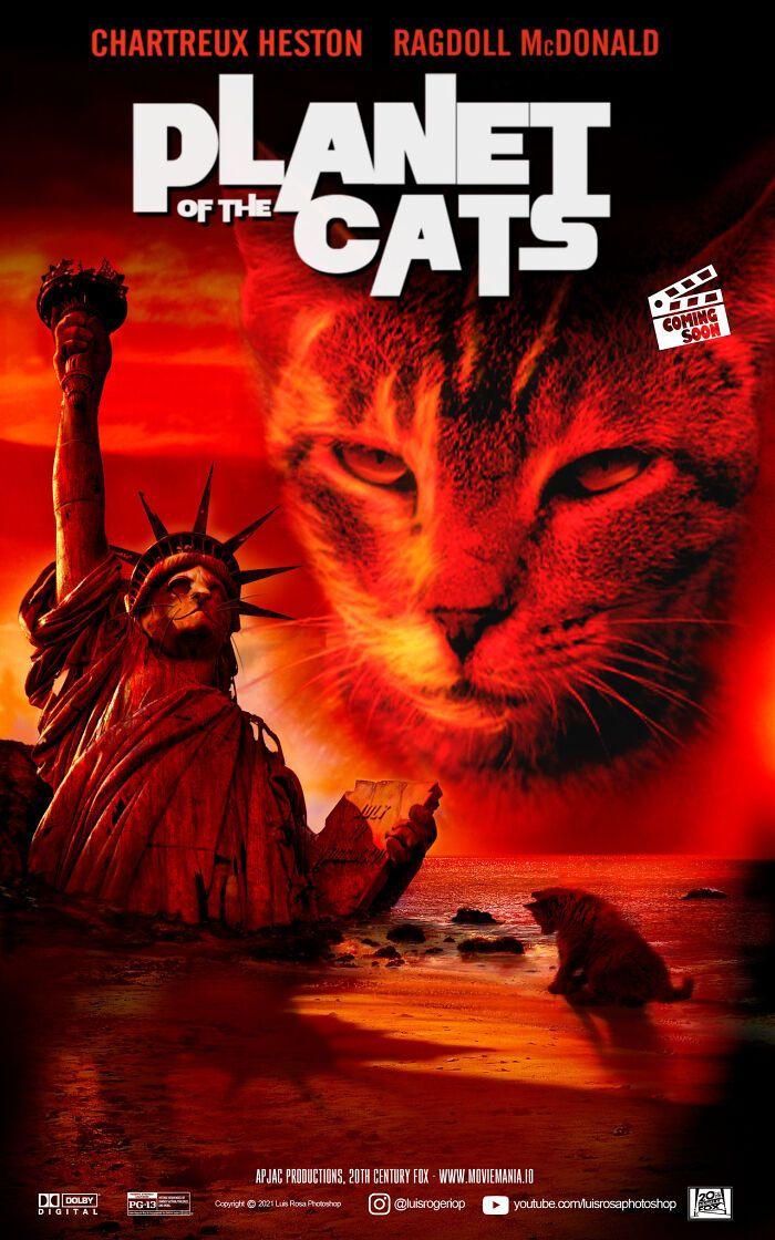 Artista recria pôsteres de filmes e substitui atores por gatos e cães (19 fotos) 3