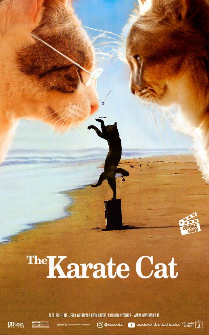 Artista recria pôsteres de filmes e substitui atores por gatos e cães (19 fotos) 9