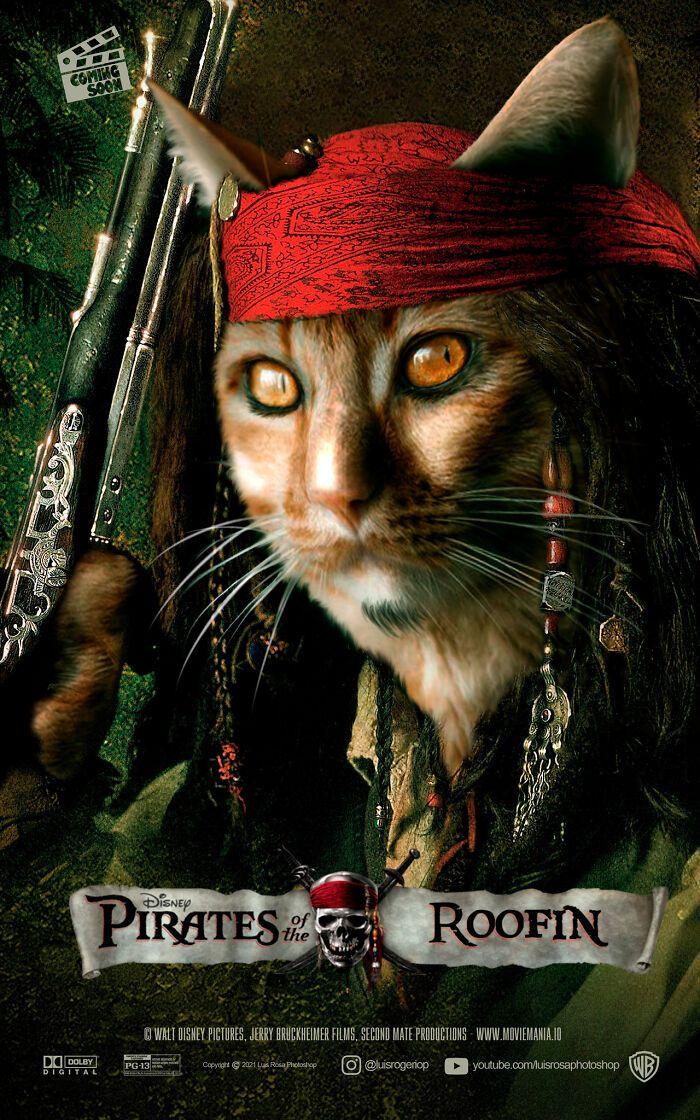 Artista recria pôsteres de filmes e substitui atores por gatos e cães (19 fotos) 11