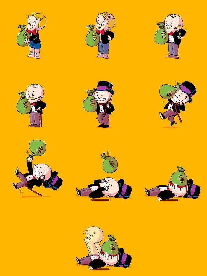 Artista revela os bastidores perturbadores de personagens populares (30 fotos) 21