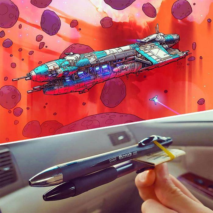 Artista transforma coisas do dia a dia em naves espaciais, e o resultado está fora deste mundo (23 fotos) 4