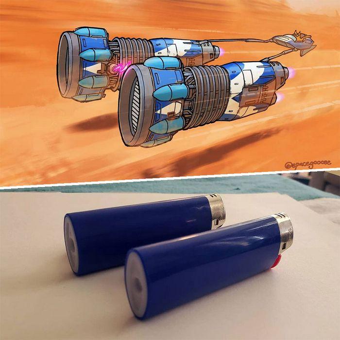 Artista transforma coisas do dia a dia em naves espaciais, e o resultado está fora deste mundo (23 fotos) 9