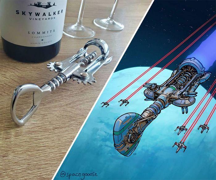 Artista transforma coisas do dia a dia em naves espaciais, e o resultado está fora deste mundo (23 fotos) 16