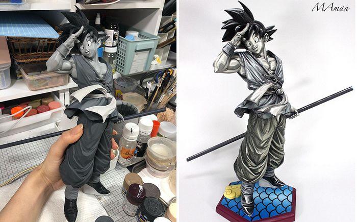 Artista transforma estatuetas em esculturas ultra realistas de personagens de anime (38 fotos) 5