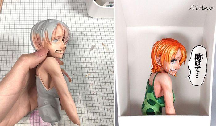 Artista transforma estatuetas em esculturas ultra realistas de personagens de anime (38 fotos) 10