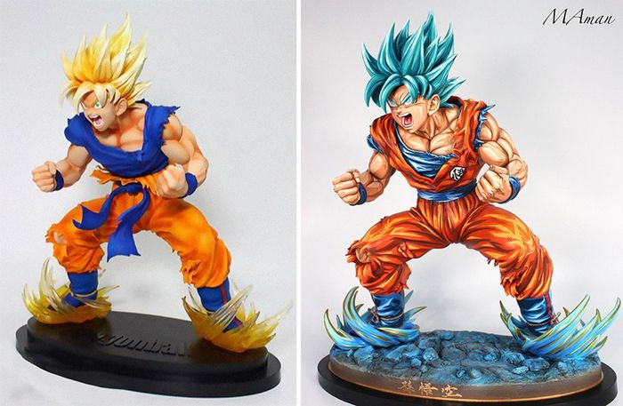 Artista transforma estatuetas em esculturas ultra realistas de personagens de anime (38 fotos) 12