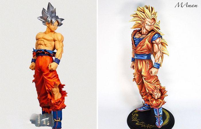 Artista transforma estatuetas em esculturas ultra realistas de personagens de anime (38 fotos) 14