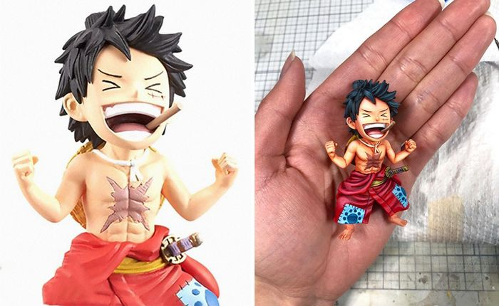 Artista transforma estatuetas em esculturas ultra realistas de personagens de anime (38 fotos) 16