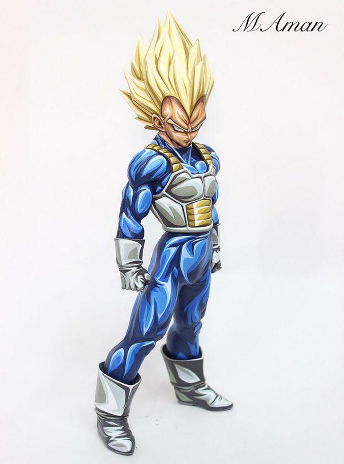 Artista transforma estatuetas em esculturas ultra realistas de personagens de anime (38 fotos) 35