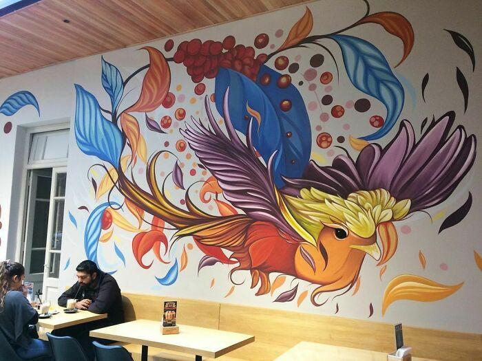 32 edifícios decorados com hipnotizantes murais de vida selvagem 12