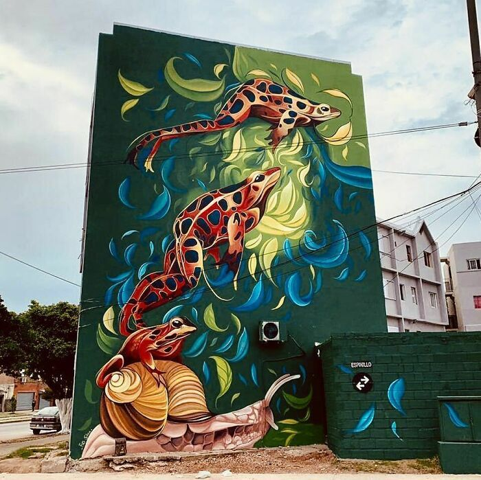 32 edifícios decorados com hipnotizantes murais de vida selvagem 15