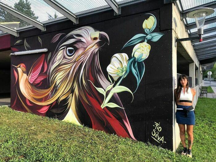 32 edifícios decorados com hipnotizantes murais de vida selvagem 18