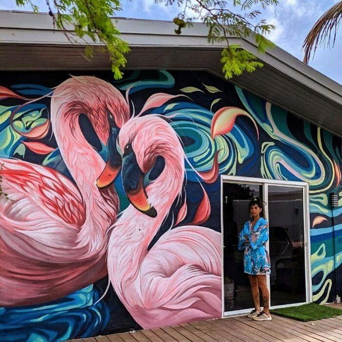 32 edifícios decorados com hipnotizantes murais de vida selvagem 21