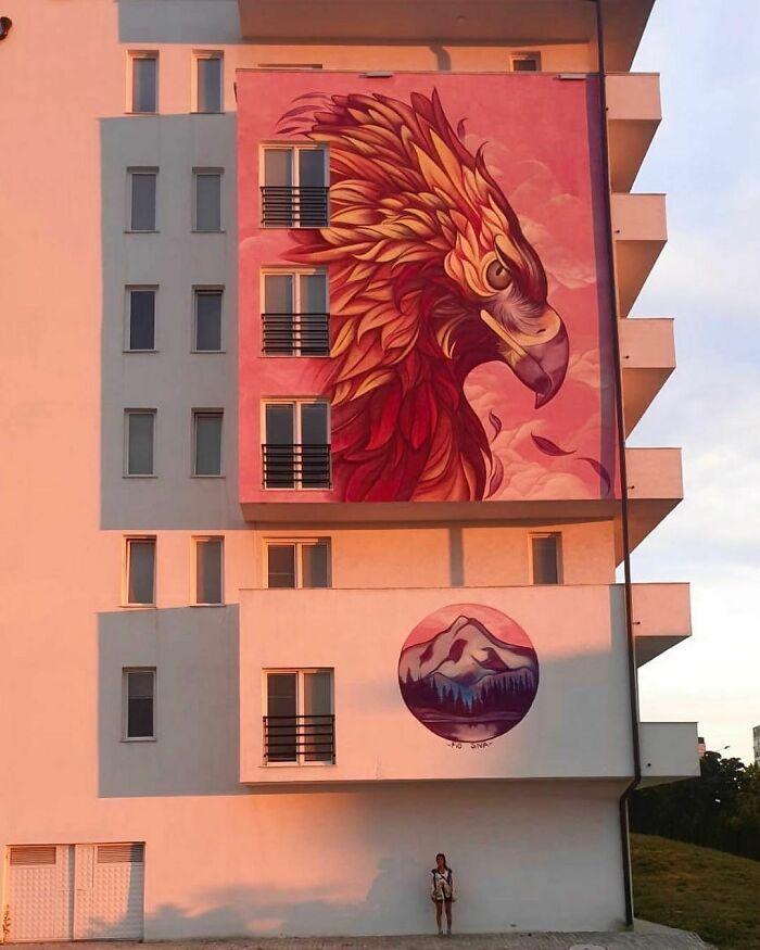 32 edifícios decorados com hipnotizantes murais de vida selvagem 23