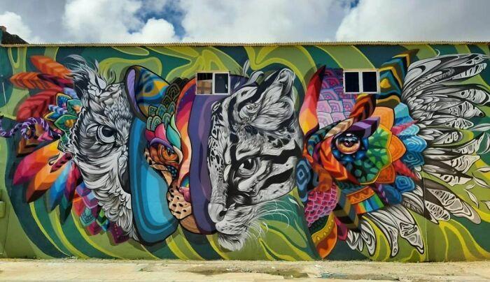 32 edifícios decorados com hipnotizantes murais de vida selvagem 24