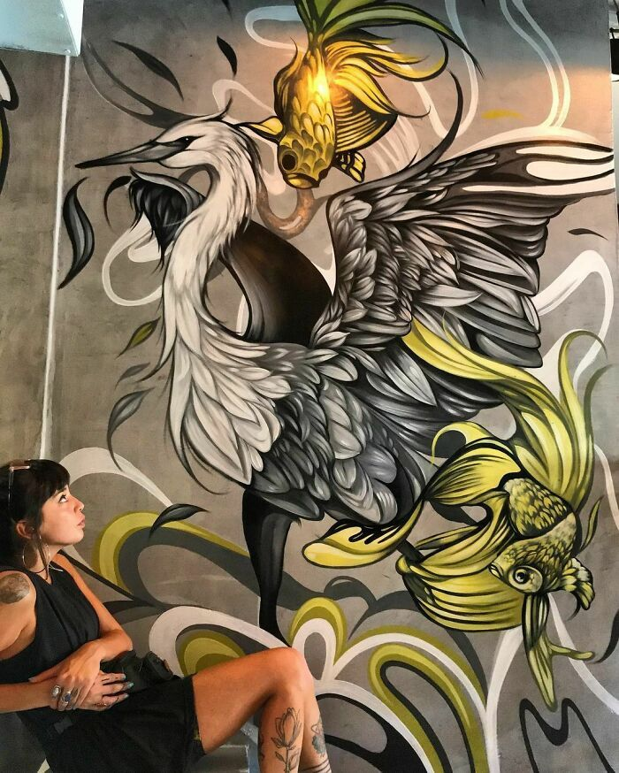 32 edifícios decorados com hipnotizantes murais de vida selvagem 25