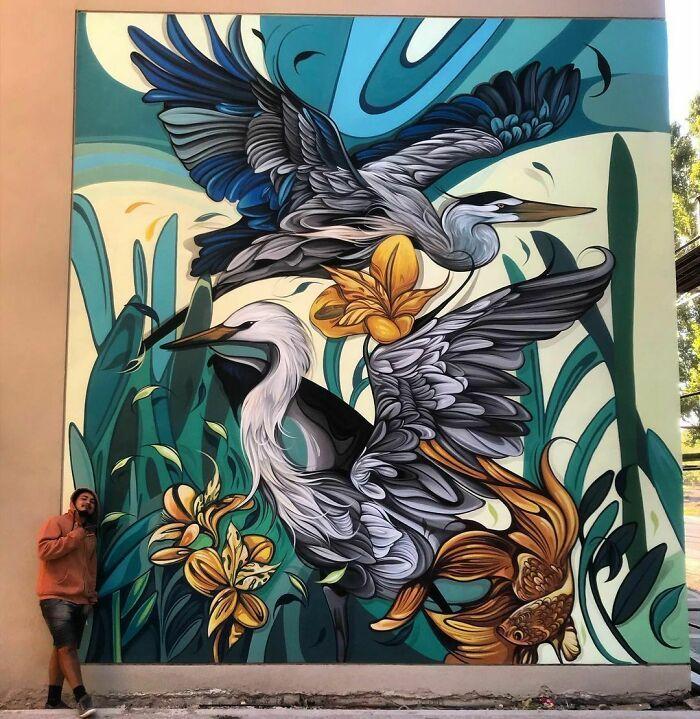 32 edifícios decorados com hipnotizantes murais de vida selvagem 30